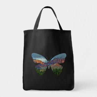 Sedona Arizona butterfly landscape, tote bag