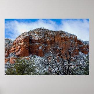 Sedona, Arizona in the Snow 2804 Posters