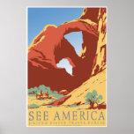 """See America"" Vintage WPA Travel Poster"