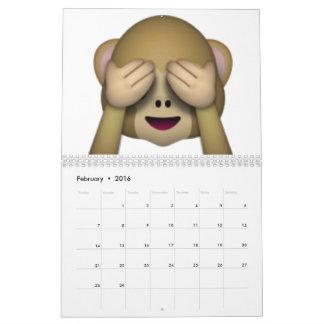See No Evil Monkey - Emoji Calendars