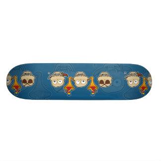 see no, hear no, speak no pirate skull monkeys 20.6 cm skateboard deck