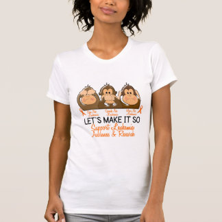 See Speak Hear No Leukemia 2 T-Shirt