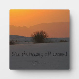see the beauty all around you plaque
