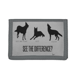"""See the Difference?"" (Man's Best Friends) Trifold Wallets"
