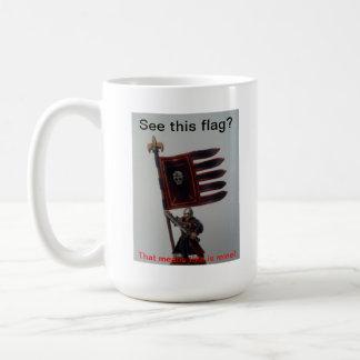 See this flag? basic white mug