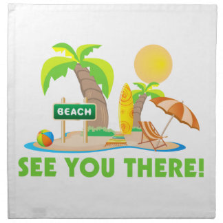 See You At The Beach Napkin