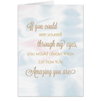 See Yourself Through My Eyes Encouragement Card