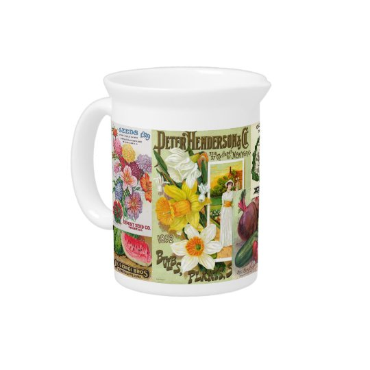 Seed Packets Drink Pitcher