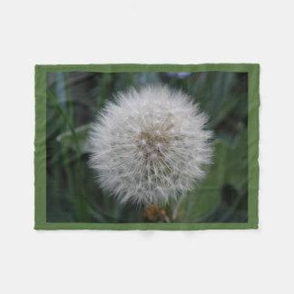 Seeding Dandelion Flower Fleece Blanket