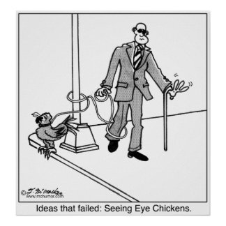 Seeing Eye Chickens? Poster