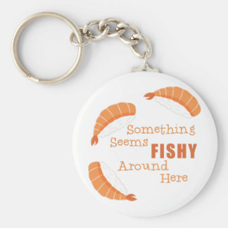 Seems Fishy Basic Round Button Key Ring