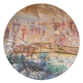 Sego Canyon Indian Pictographs - Utah Plate