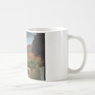 Seine and Eiffel tower in the sunset by Henri Rous Coffee Mug