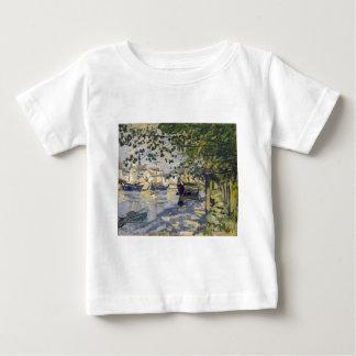 Seine at Rouen by Claude Monet Baby T-Shirt