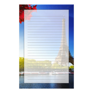 Seine In Paris With Eiffel Tower In Autumn Time Stationery