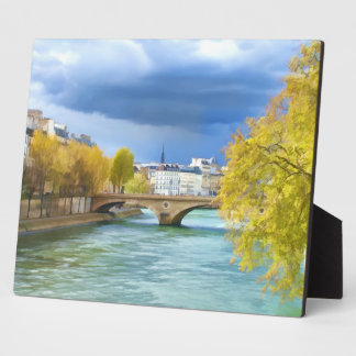 Seine River Under April Skies Plaque