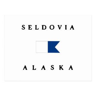Seldovia Alaska Alpha Dive Flag Postcard