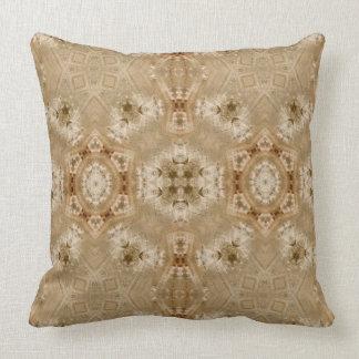 Selenite III gemstone fractal art pillow