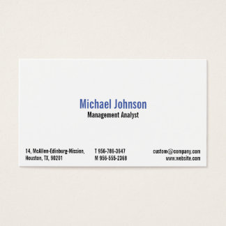 Self-employed Professionals Website Business Card