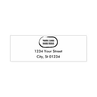 Self Inking Return Address Stamp With Logo