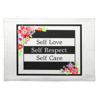 """Self Love"" Gorgeous Floral Place mats. Placemat"