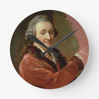 Self Portrait, 1773-87 (oil on canvas) Round Clock