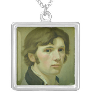 Self-portrait, 1802 silver plated necklace