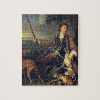 Self Portrait as a Hunter, 1699 (oil on canvas) Jigsaw Puzzle