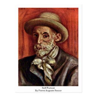 Self-Portrait By Pierre-Auguste Renoir Postcard