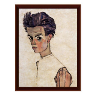 Self-Portrait By Schiele Egon Post Cards
