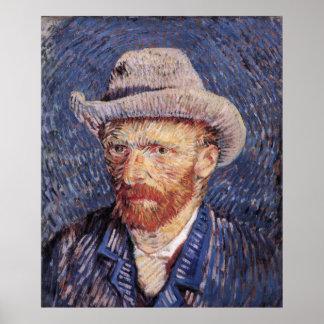 Self Portrait Felt Hat Poster XXL Vincent Van Gogh