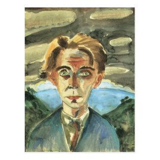 Self Portrait in Barcelona by Walter Gramatte Postcard