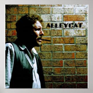 Self-Portrait of Bruce AlleyCat Poster