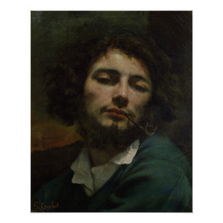 Self Portrait or, The Man with a Pipe, c.1846 Poster