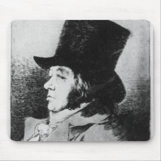 Self Portrait, plate 1 of 'Los caprichos' Mouse Pad
