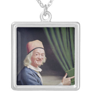 Self Portrait Smiling, c.1770-73 Silver Plated Necklace