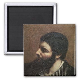 Self Portrait with Striped Collar Magnet
