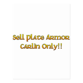 Sell Plate Armor - Tibia Postcard