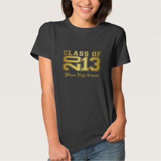 Senior Class of 2013 - gold T Shirts
