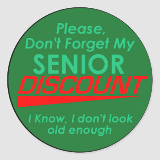 SENIOR DISCOUNT Sticker