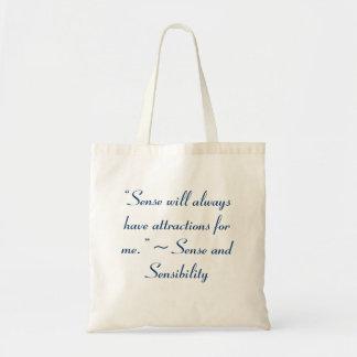 Sense Will Always Attract Me Jane Austen Quote Tote Bag