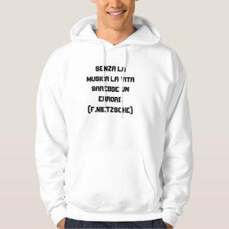 Senza la musica hoodie