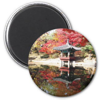 Seoul Autumn Colors 6 Cm Round Magnet