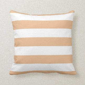 Sepia and White Bold Stripes Cushion