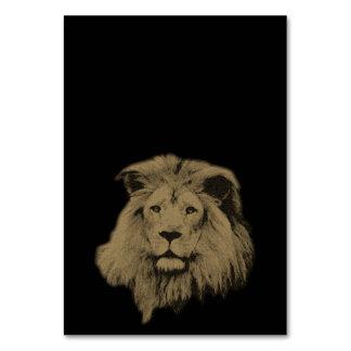 Sepia Lion Card