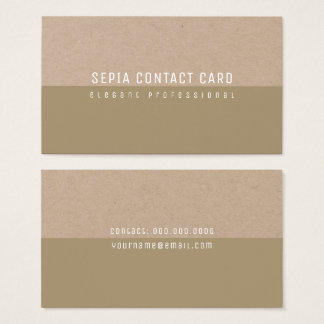 sepia minimalist elegant and modern business card