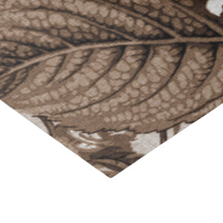 Sepia Tone Brown Vintage Floral Toile No.1 Tissue Paper