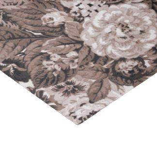Sepia Tone Brown Vintage Floral Toile No.3 Tissue Paper