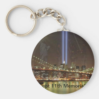 Sept. 11th Memorial! Basic Round Button Key Ring