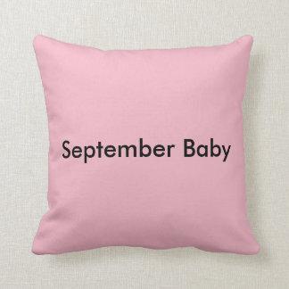 September Baby throw pillow